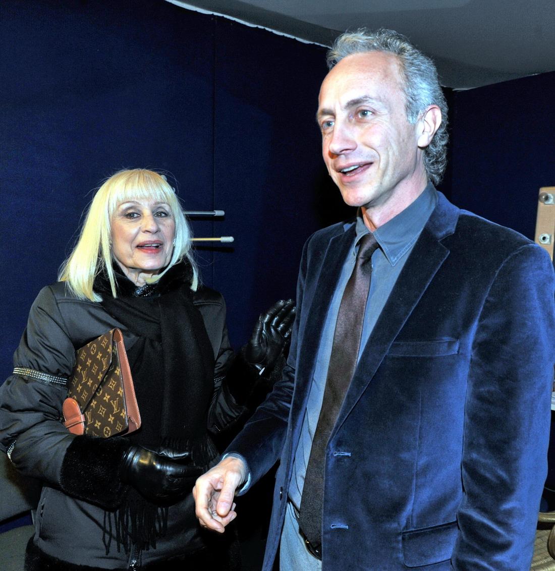 Raffaella Carrà e Marco Travaglio