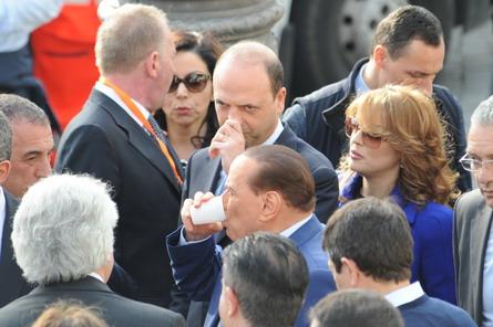 Angelino Alfano, Silvio Berlusconi e Francesca Pascale