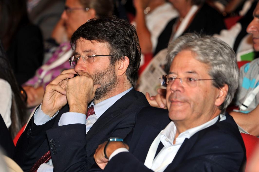 Dario Franceschini e Paolo Gentiloni