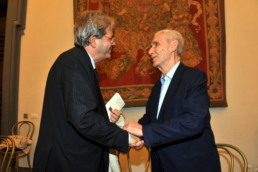 Stefano Rodotà e Paolo Gentiloni
