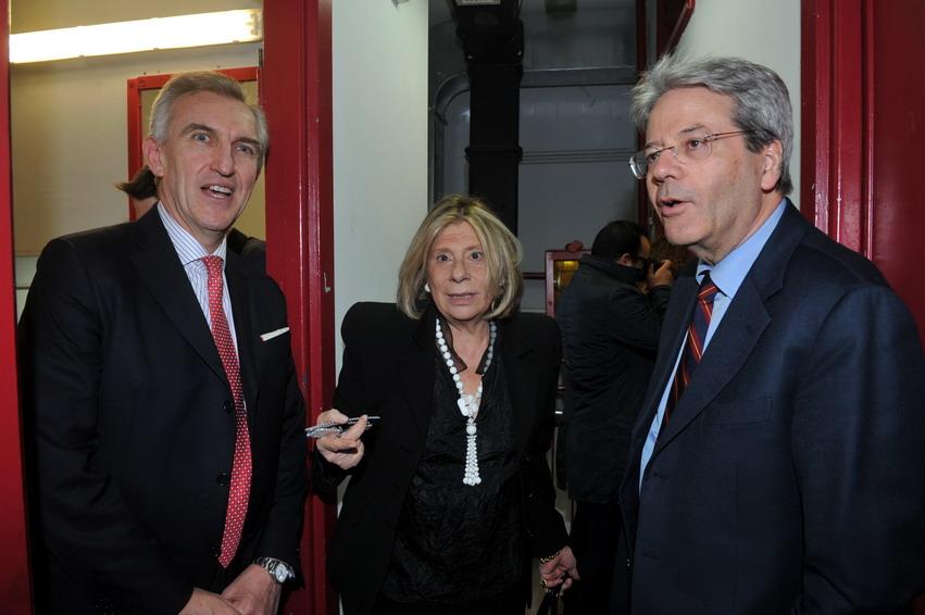 Alessandro De Nicola, Elisa Greco e Paolo Gentiloni