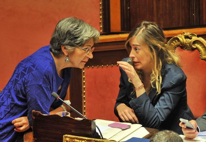 Anna Finocchiaro e Maria Elena Boschi