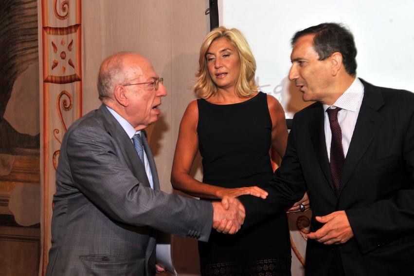 Fedele Confalonieri, Myrta Merlino e Luigi Gubitosi