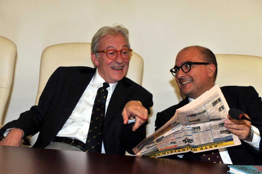 Vittorio Feltri e Gennaro Sangiuliano