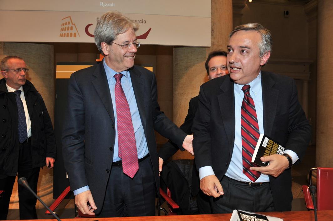 Paolo Gentiloni e Maurizio Molinari