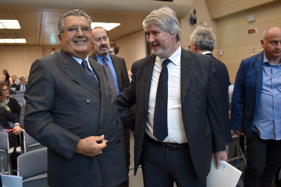 Carlo De Benedetti e Giuliano Poletti