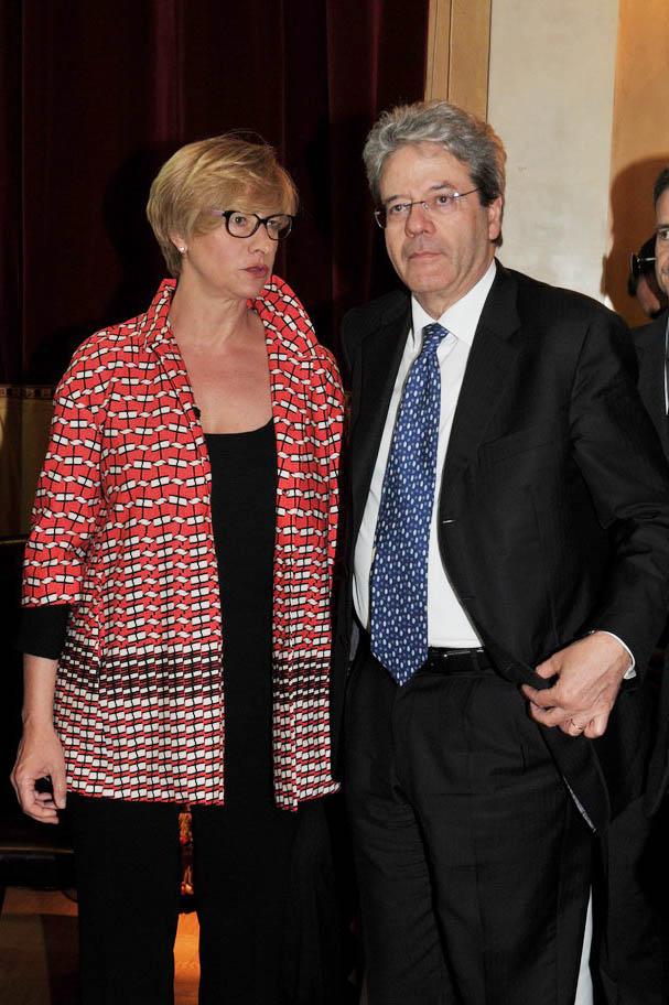 Roberta Pinotti e Paolo Gentiloni
