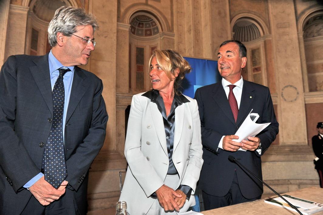 Paolo Gentiloni, Stefania Craxi e Franco Frattini