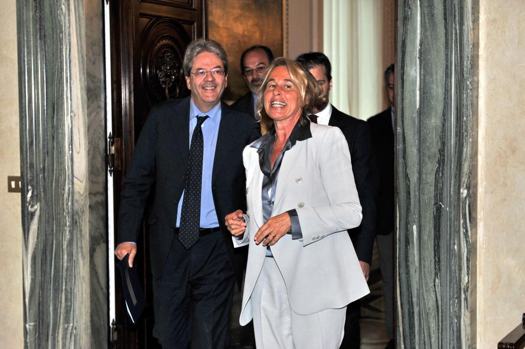 Paolo Gentiloni e Stefania Craxi