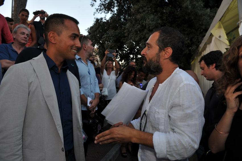 Luigi Di Maio e Claudio Santamaria
