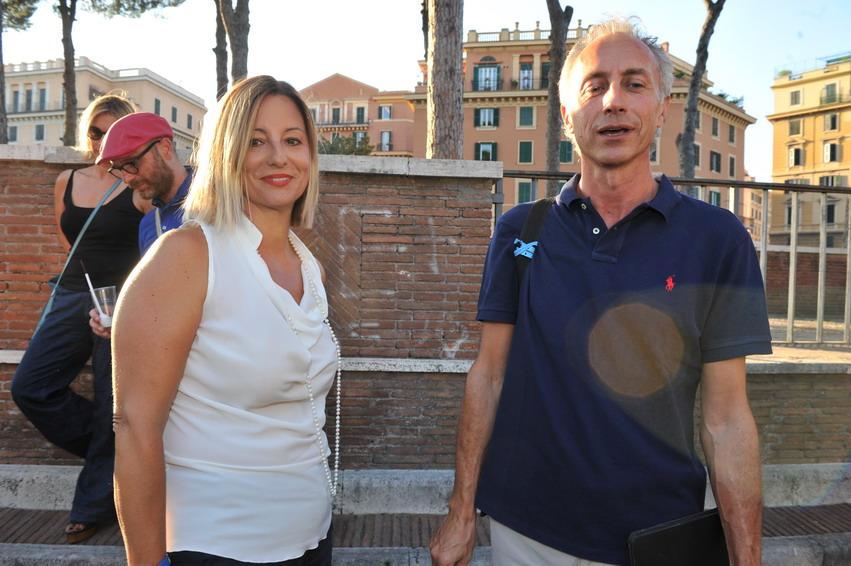 Roberta Lombardi e Marco Travaglio