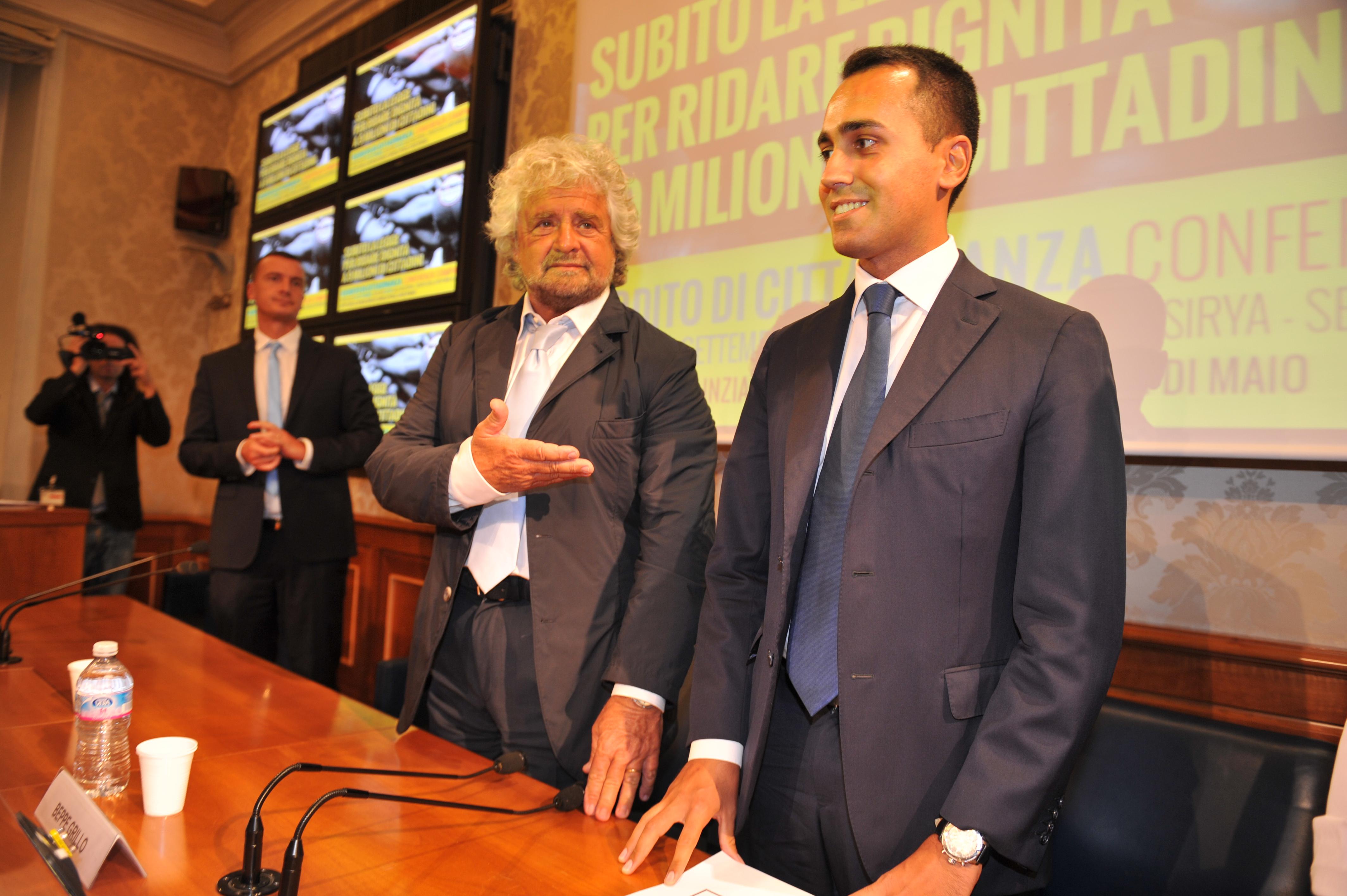 paritarie Beppe Grillo e Luigi Di Maio