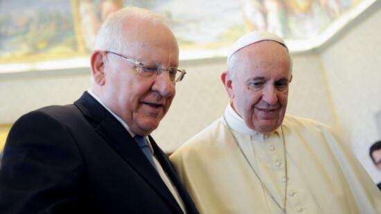 Reuven Rivlin e Papa Francesco