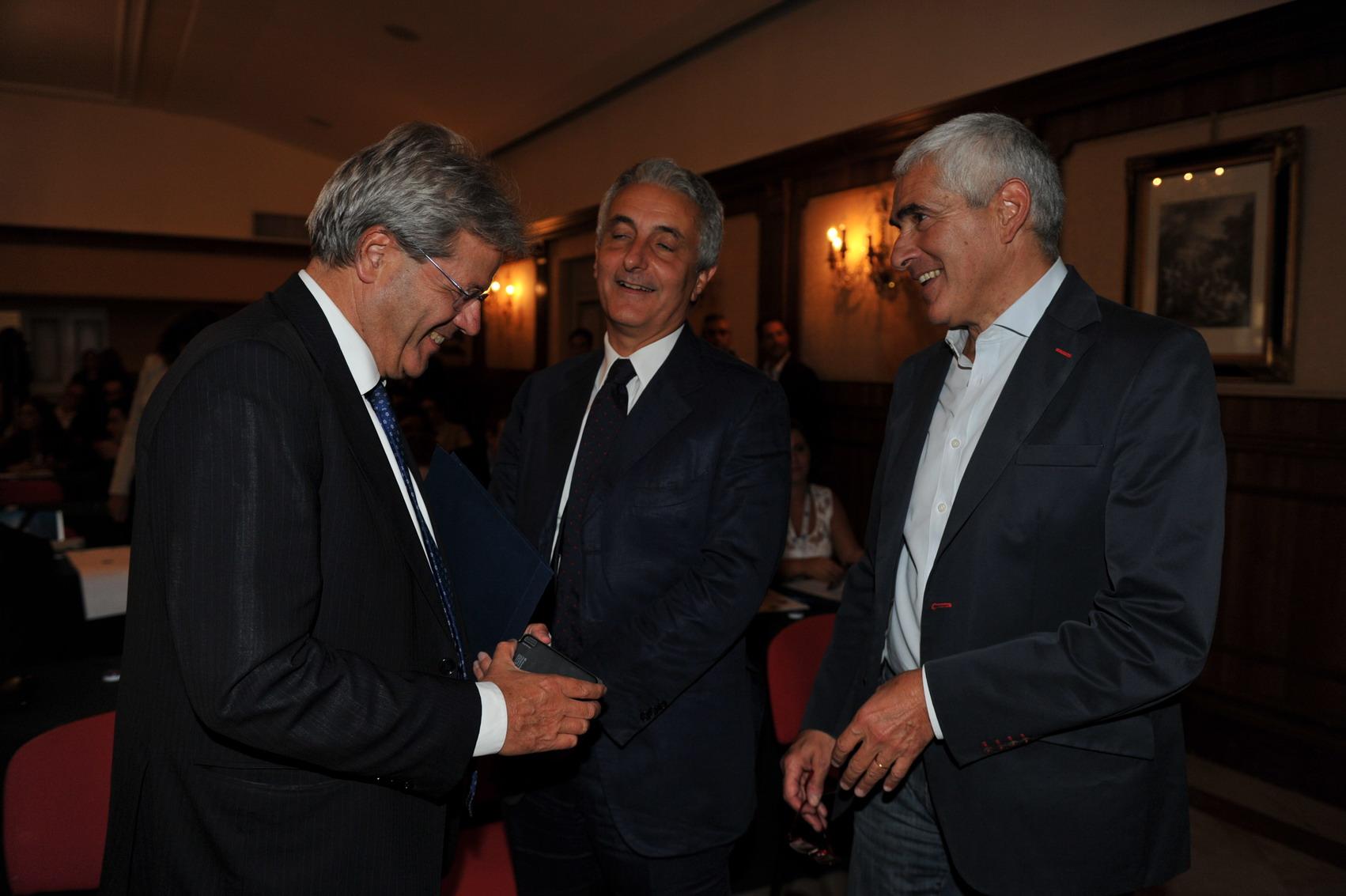 Paolo Gentiloni, Pier Ferdinando Casini e Gaetano Quagliariello