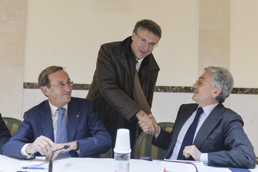 Gianfranco Fini, Raffaele Cantone e Massimo D'Alema