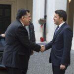 Fayez Al-Serraj e Matteo Renzi