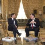 Matteo Renzi e Fayez Al-Serraj