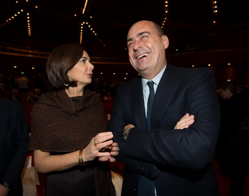 Laura Boldrini e Nicola Zingaretti