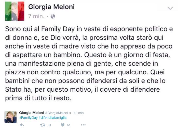 Tweet Meloni