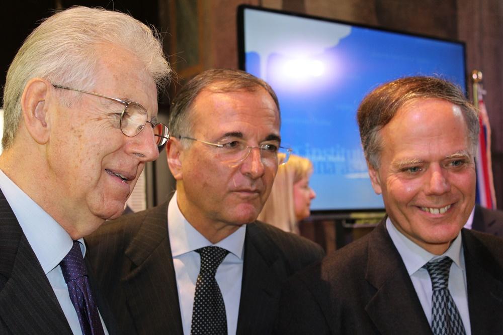 Mario Monti, Fraco Frattini ed Enzo Moavero Milanesi