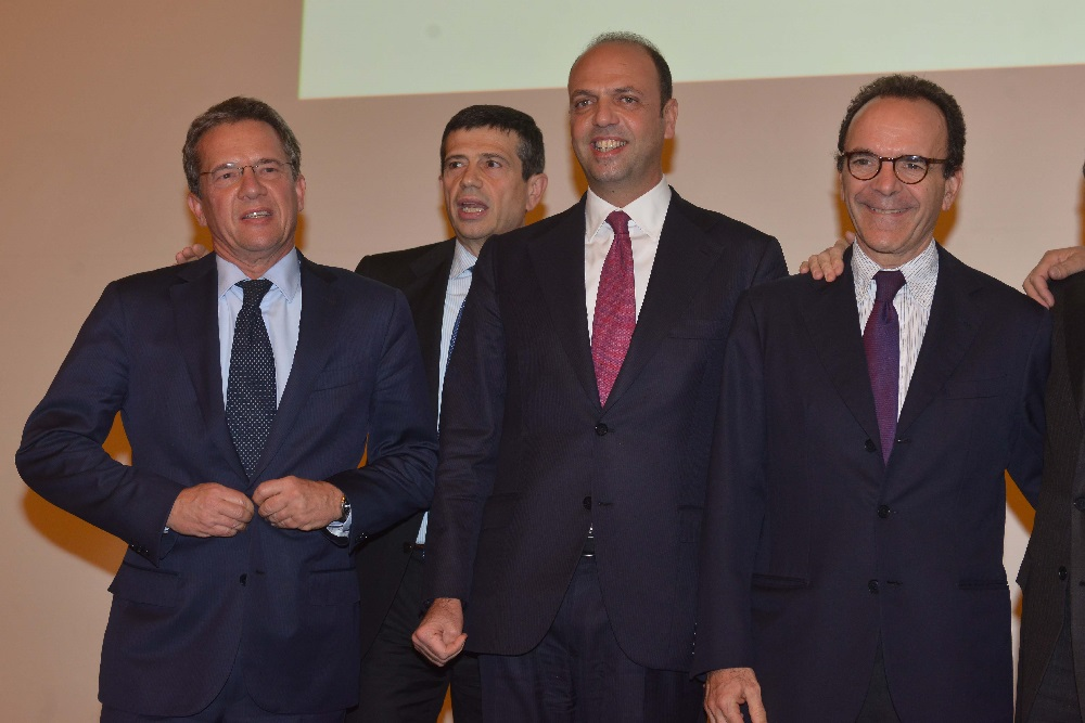 Luigi Casera, Angelino Alfano e Stefano Parisi