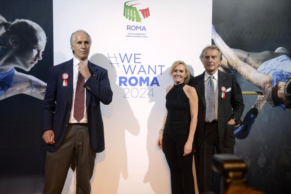 Giovanni Malagò, Diana Bianchedi e Luca Cordero di Montezemolo