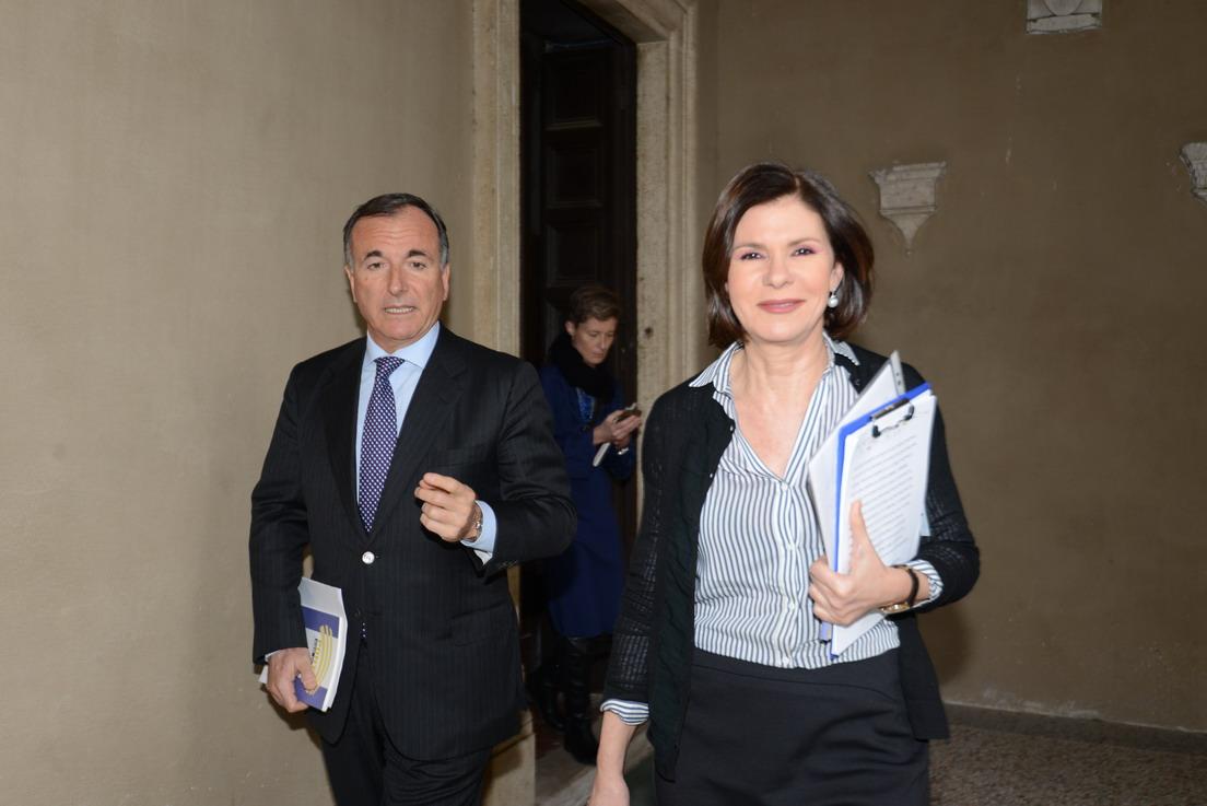 Franco Frattini e Bianca Berlinguer