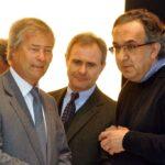 Vincent Bolloré, Harald Wester e Sergio Marchionne