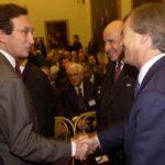 Gianfranco Fini, Antoine Bernheim e Vincent Bolloré