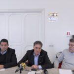Marco Bentivogli, Rocco Palombella e Maurizio Landini