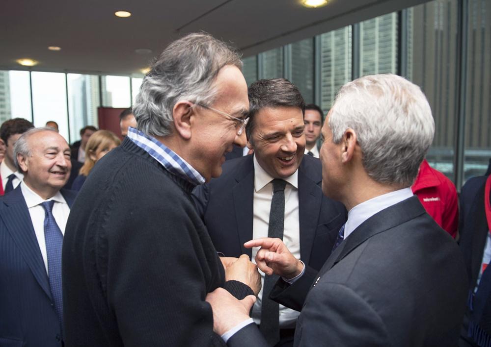 Sergio Marchionne, Matteo Renzi e Rahm Emanuel