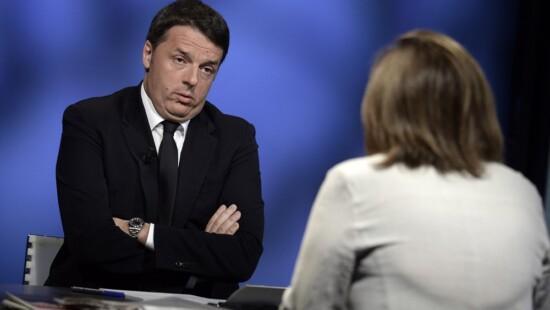 Matteo Renzi e Lucia Annunziata