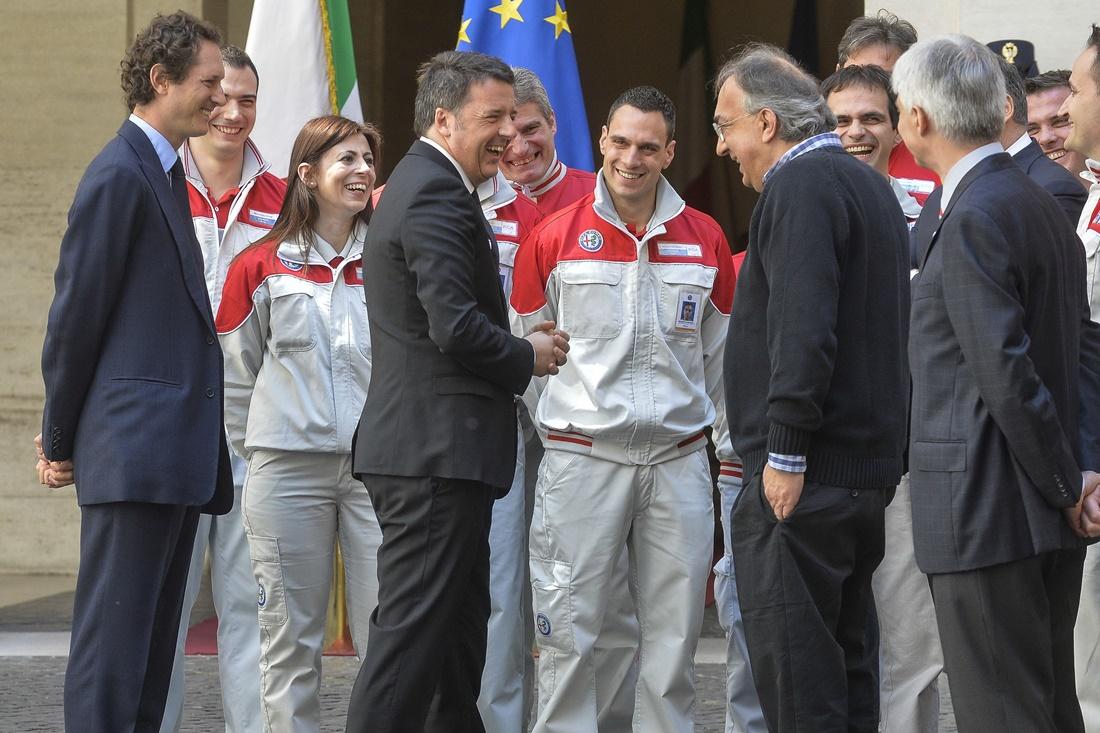 Matteo Renzi e Sergio Marchionne
