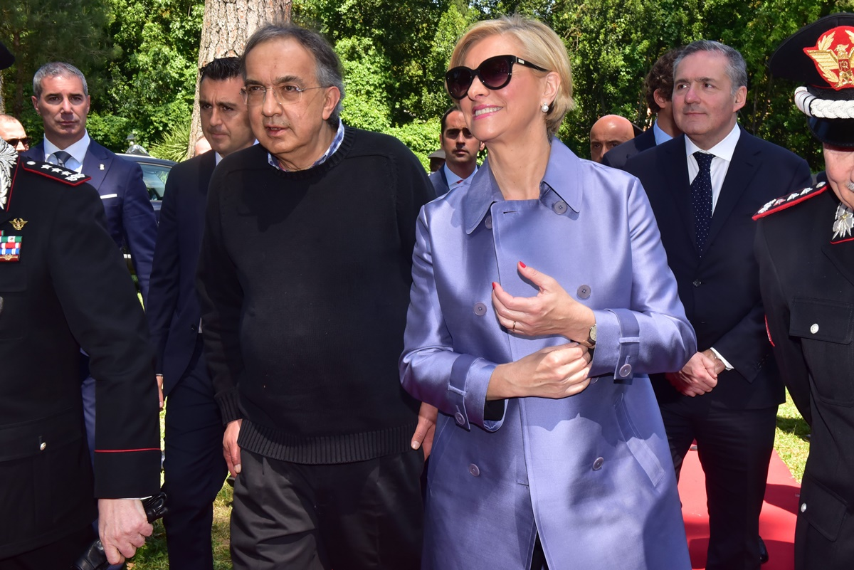 Sergio Marchionne e Roberta Pinotti