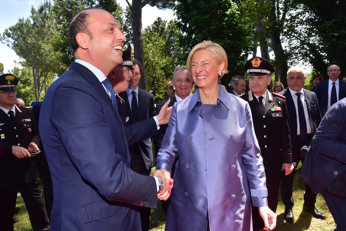 Angelino Alfano e Roberta Pinotti