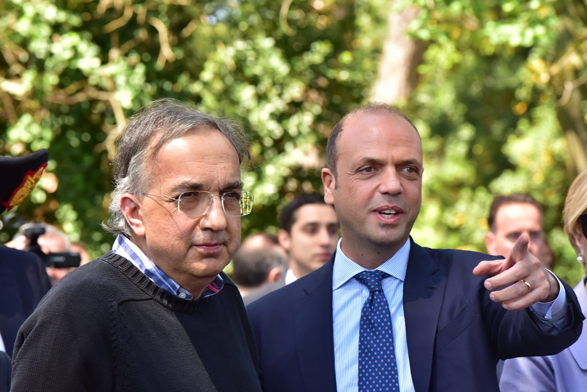 Sergio Marchionne e Angelino Alfano