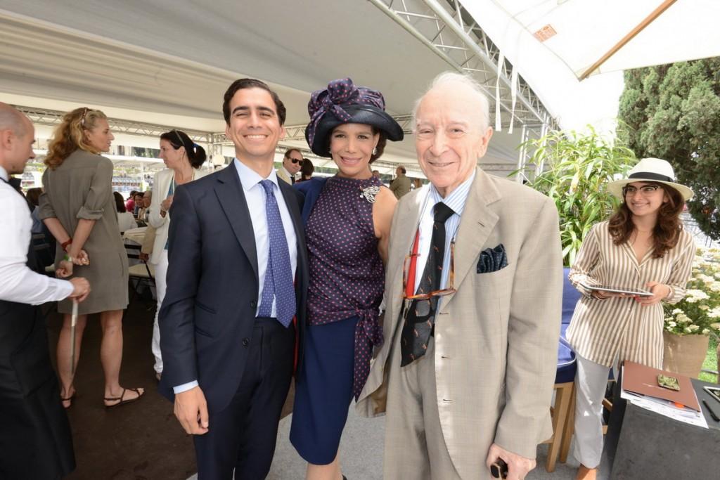 Marisela e Paolo Federici con il figlio Eduardo Tamraz