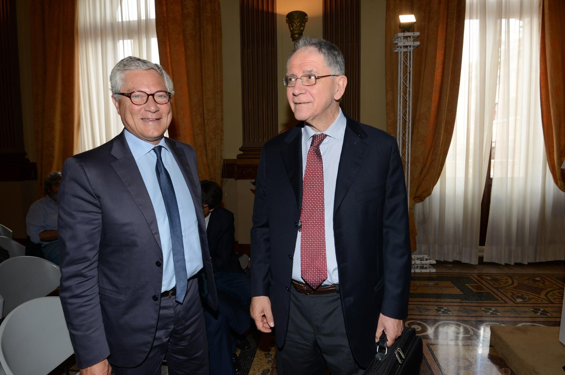 Giovanni Pitruzzella e Rocco Buttiglione