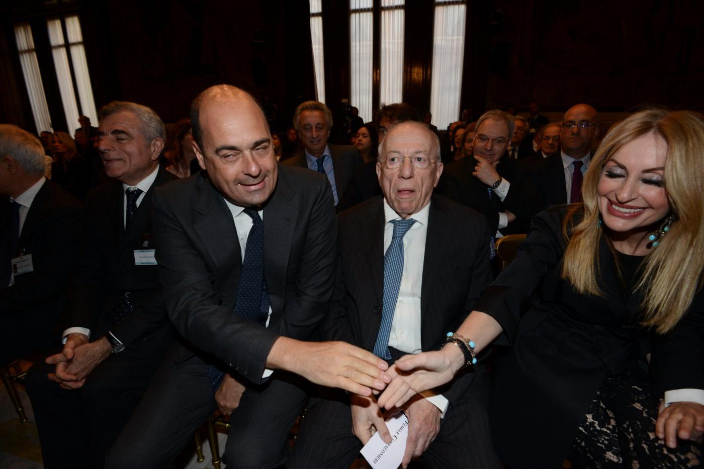 Mauro Moretti, Nicola Zingaretti e Fedele Confalonieri
