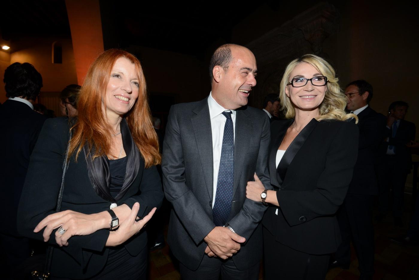 Michela Brambilla, Nicola Zingaretti e Romana Liuzzo