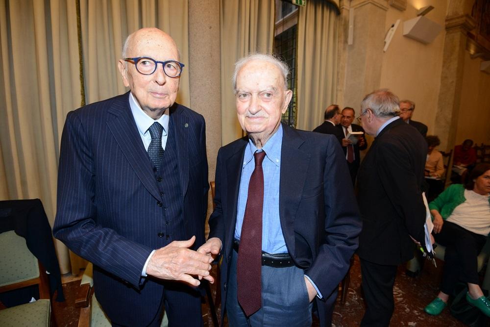 Giorgio Napolitano ed Emanuele Macaluso