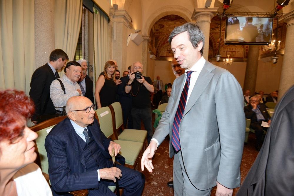 Giorgio Napolitano e Andrea Orlando