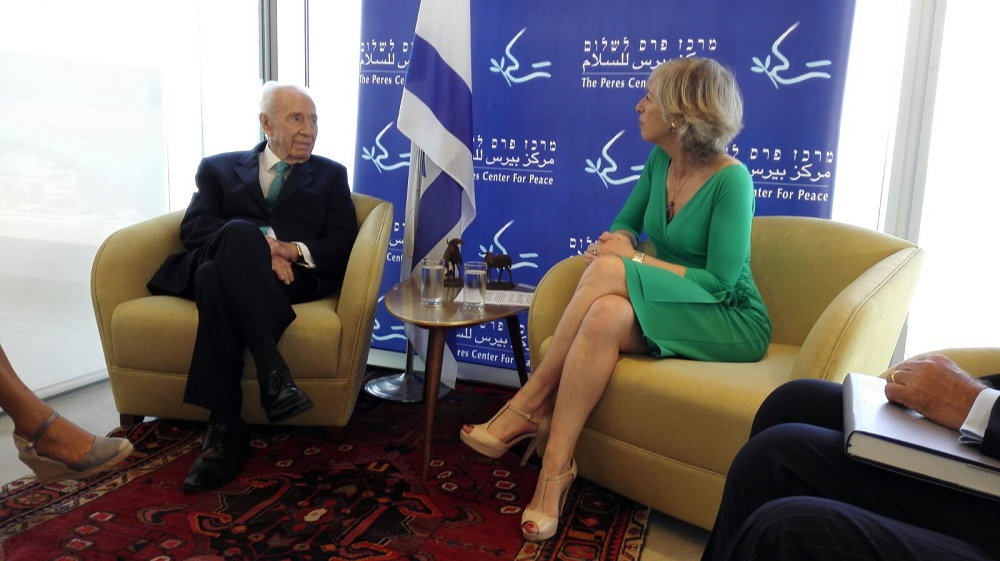 Stefania Giannini e Shimon Peres