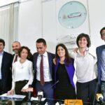 Matteo Brambilla, Max Bugani, Antonietta Martinez, Luigi Di Maio, Virginia Raggi, Chiara Appendino e Paolo Menis