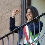 Virginia Raggi la prima volta in Campidoglio da sindaco