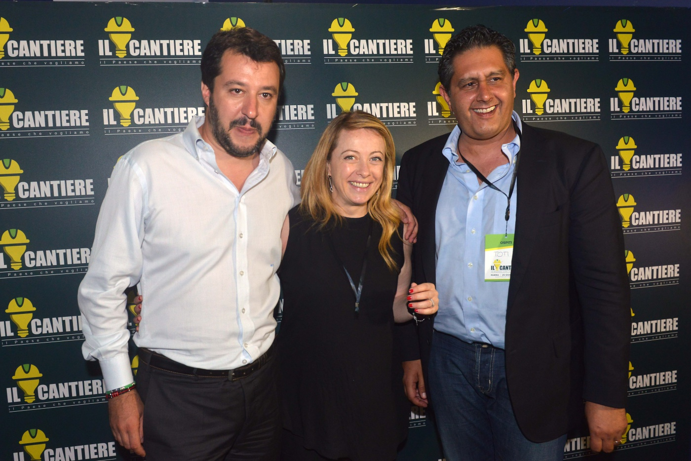 Matteo Salvini, Giorgia Meloni e Giovanni Toti
