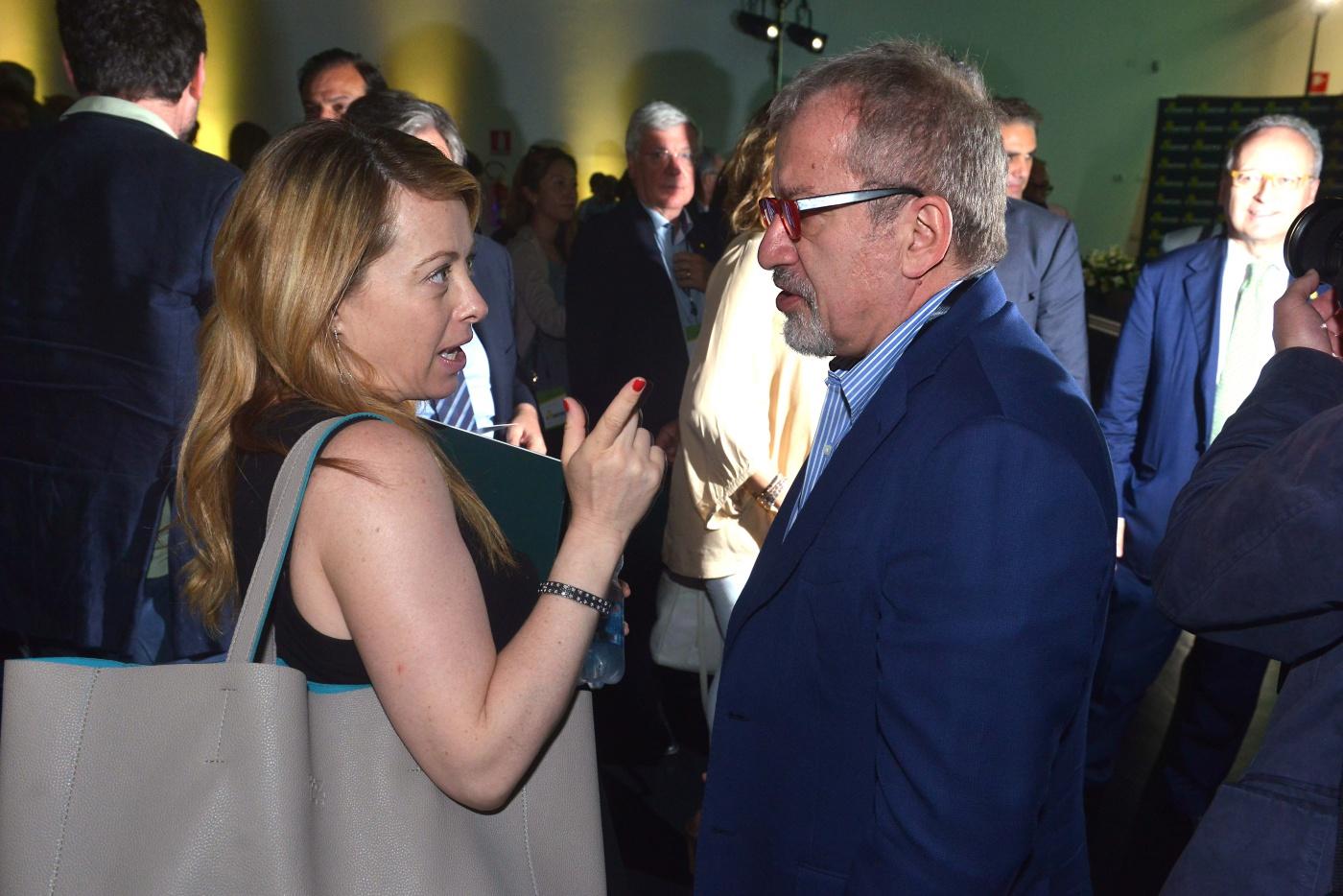 Giorgia Meloni e Bobo Maroni