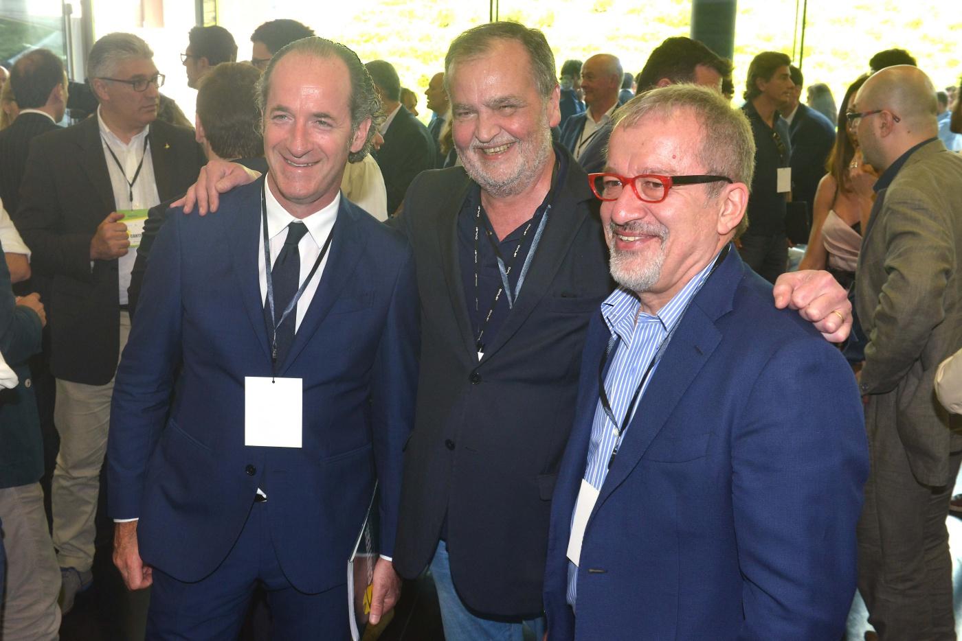 Luca Zaia, Roberto Maroni e Roberto Calderoli