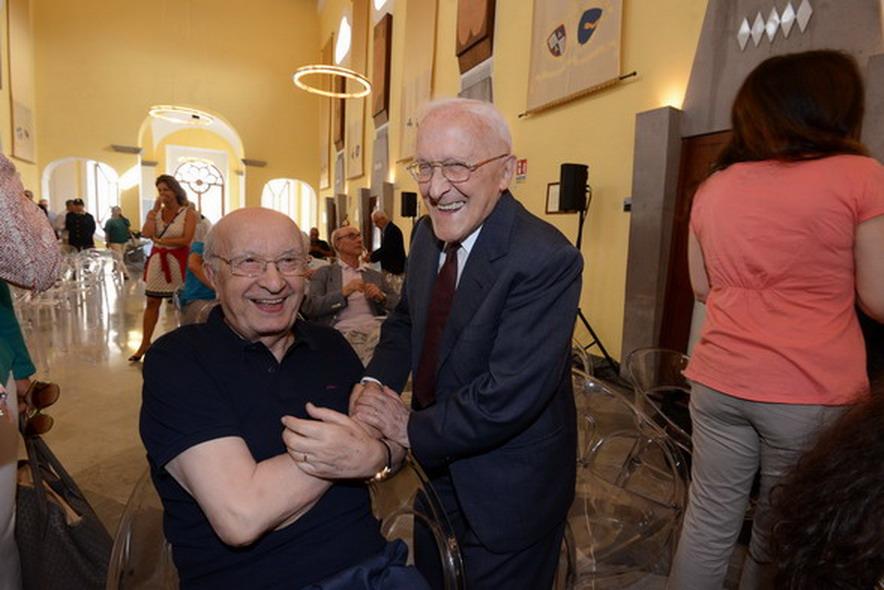 Ciriaco De Mita e Sergio Lepri