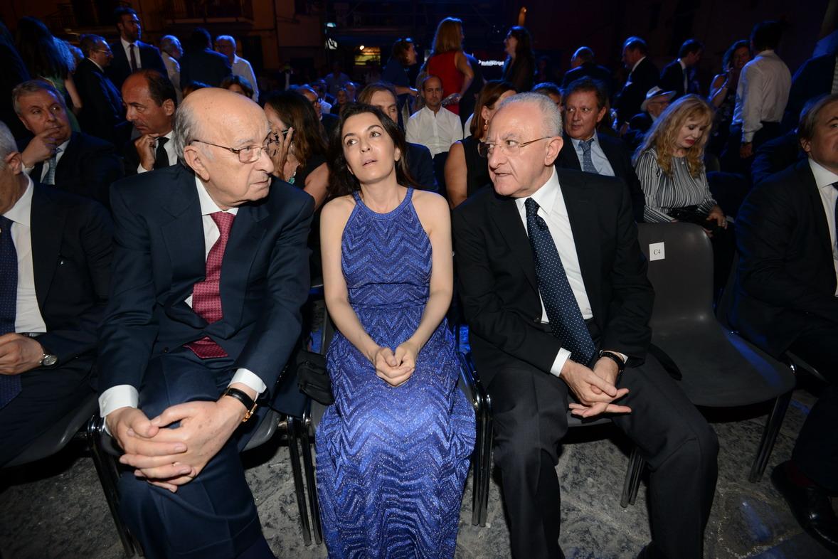 Premio Biagio Agnes 2016 Ciriaco De Mita, la figlia Antonia e Vincenzo De Luca